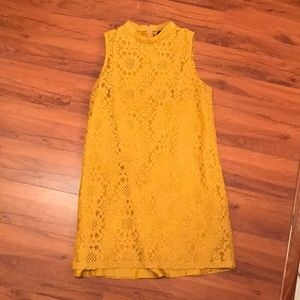 Beautiful yellow lace dress